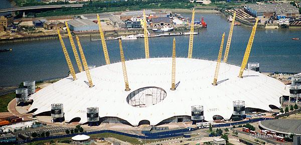 O2 Dome Aerial View