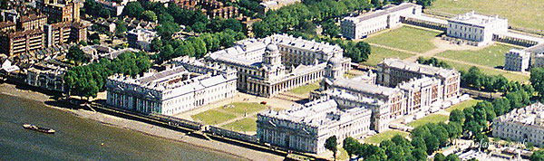 Greenwich aerial view